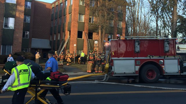 One tenant has died after a fire at an elderly complex in Wallingford on Friday evening. (WFSB)