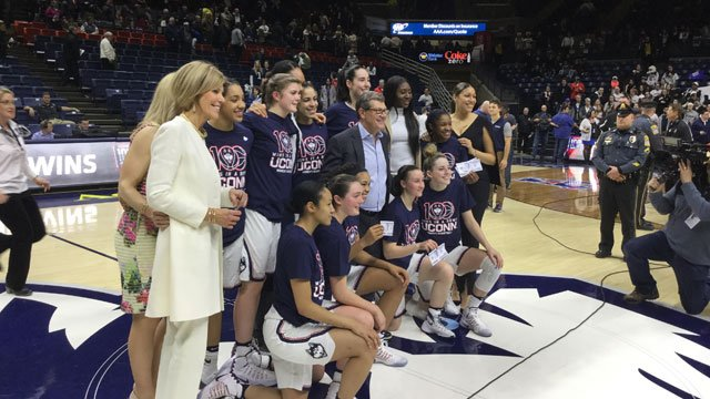 UConn women won several postseason awards for the American Athletic Conference.(WFSB file photo)