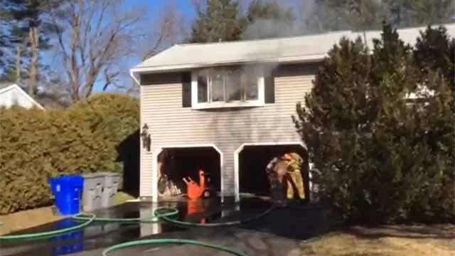 Fire crews were called to a home in Enfield on Monday afternoon (Enfield Fire Dept.)