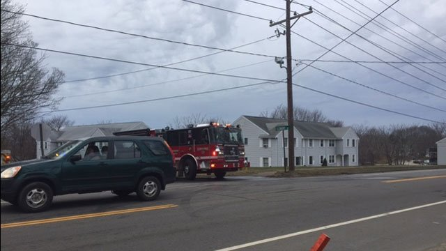One person is dead and another in the hospital after a fire at a condominium in Westbrook on Tuesday morning. (WFSB)