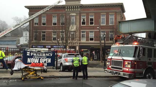 Fire reported at a furniture store in Naugatuck on Wednesday morning.  (WFSB)