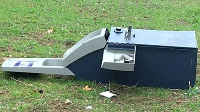 A stolen ATM was found in Southbury on Wednesday morning. (Connecticut State Police)