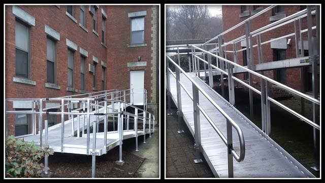 Months after a mother's plea, a wheelchair ramp was built at her apartment building (Abdiel Martínez)