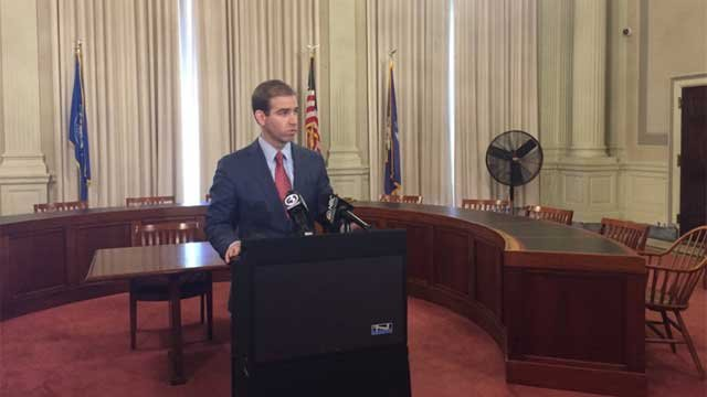 Hartford Mayor Luke Bronin said three big insurance companies have committed 10 million in support to help the city. (WFSB)