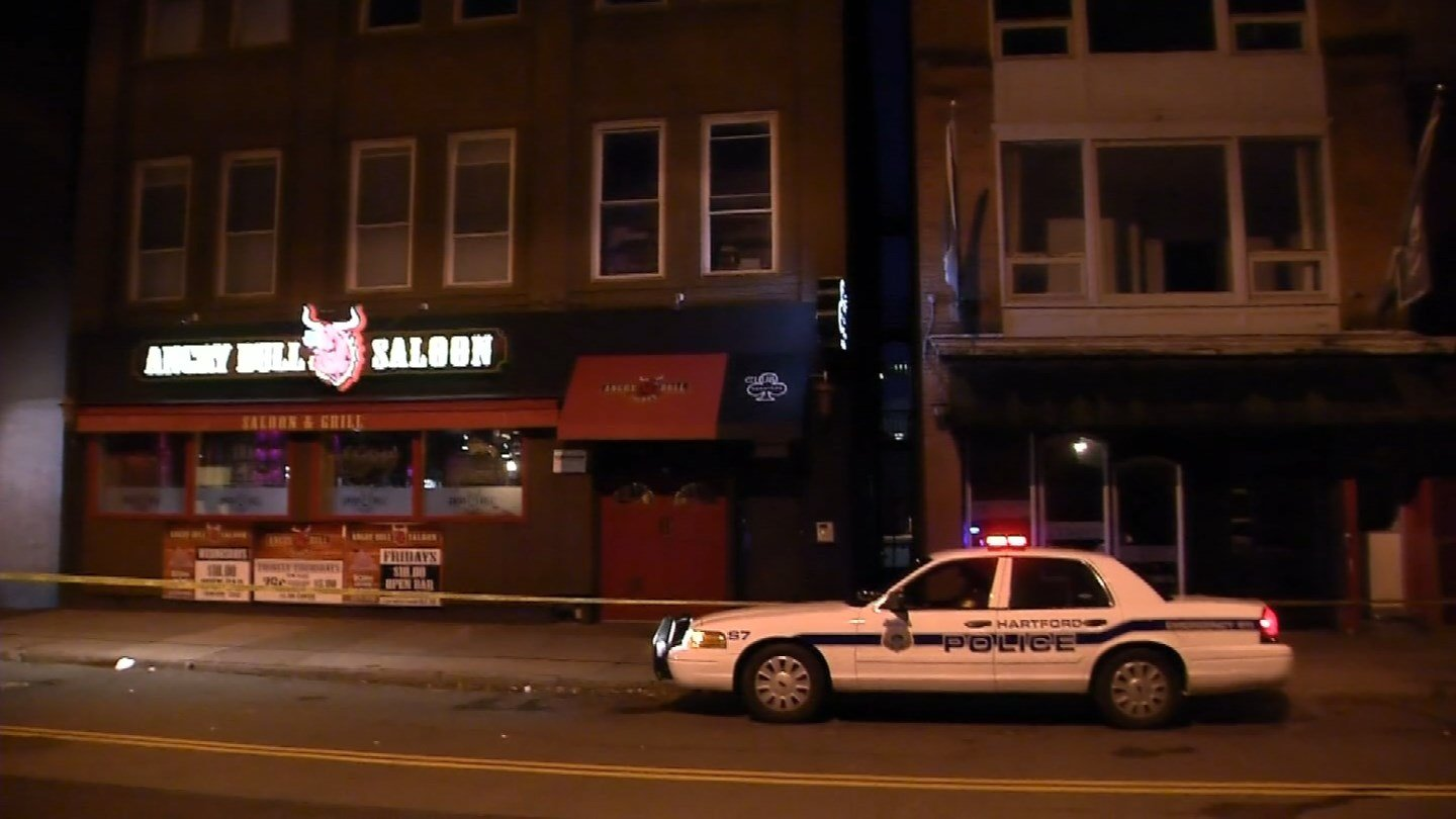 A college student fell to her death from the roof of the Angry Bull Saloon in Hartford early Friday morning. (WFSB photo)