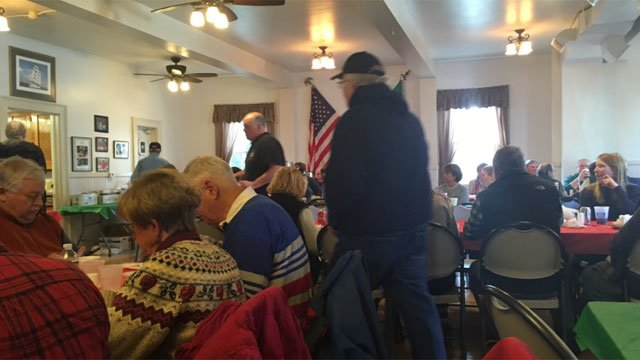 Fish fry was popular with many on the first Friday of Lent. (WFSB)