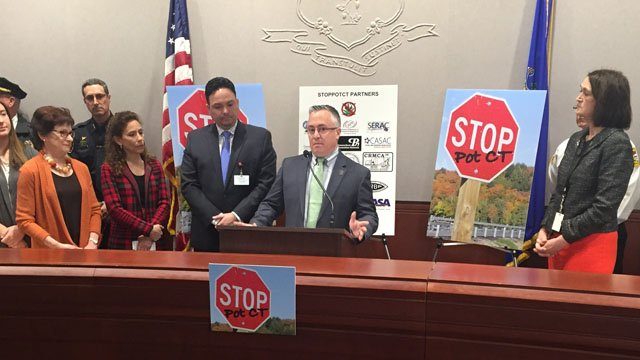 The StopPotCT Coalition discussed on Tuesday their concerns about legalizing marijuana. (WFSB photo)