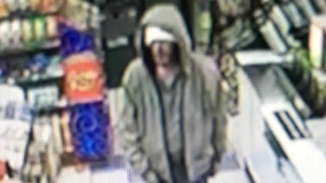 An armed robbery suspect took money from a Jo Jo's Food Mart-Valero in Westbrook on Tuesday night. (State police photo)