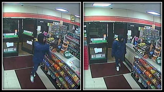 Police say this man is accused of a robbery at a 7-Eleven in Manchester (Manchester Police)