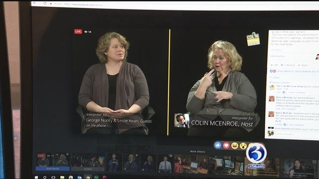 Sign language interpreters helped the deaf to listen to be a part of a Connecticut radio program. (WFSB)