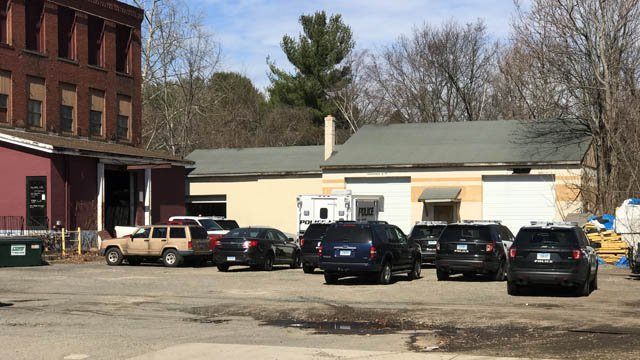 A police investigation is underway at a garage in Bristol. (WFSB photo)