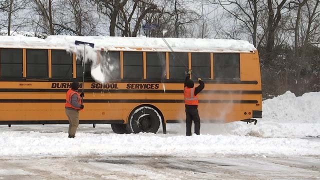 Snow days are starting to stack up for school districts in the state (WFSB)