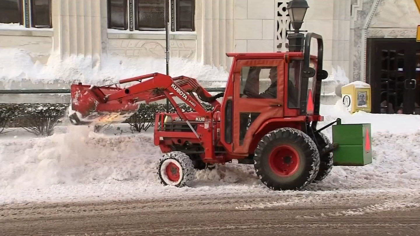 The big dig out continued in Waterbury following storm Eugene. (WFSB photo)