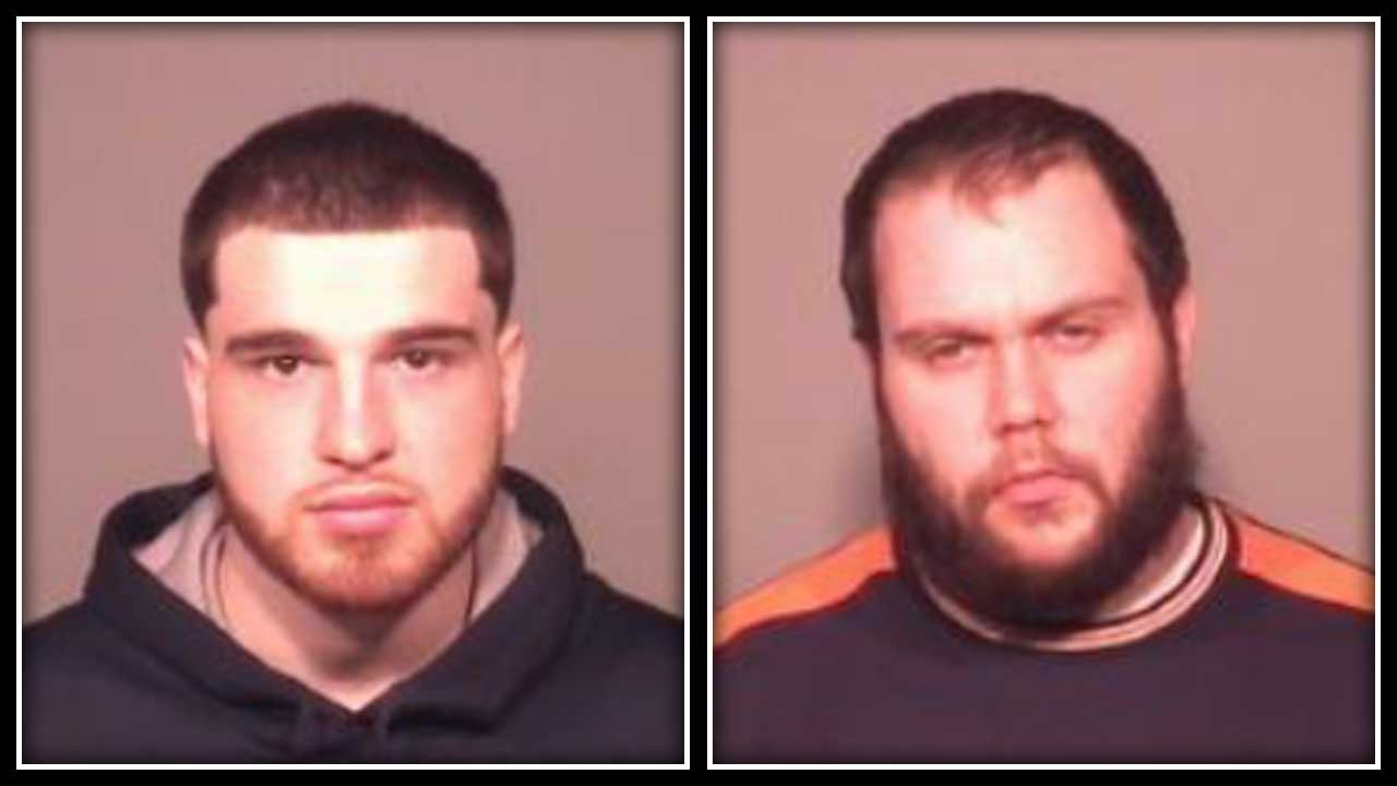 Thomas Zanone and Robert Cote face assault and reckless endangerment charges. (Meriden police photos)