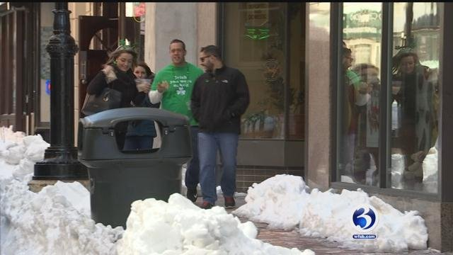 Snow and frigid temperatures have negatively impacted downtown businesses in Hartford. (WFSB)