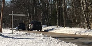 Two people were injured after an armed carjacking in East Hampton on Friday afternoon. (WFSB)