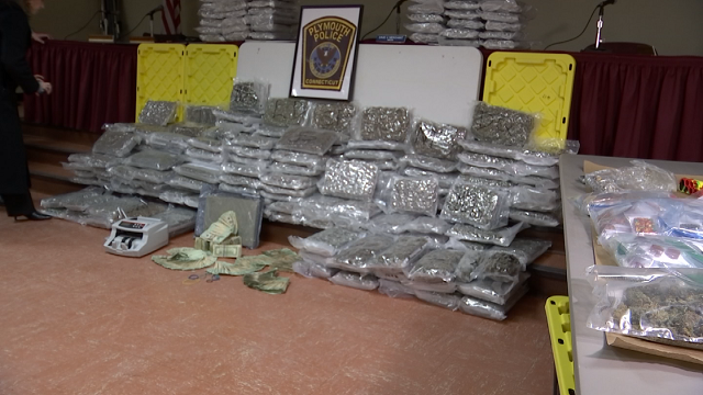 Largest marijuana bust in Plymouth's history on Friday (WFSB).