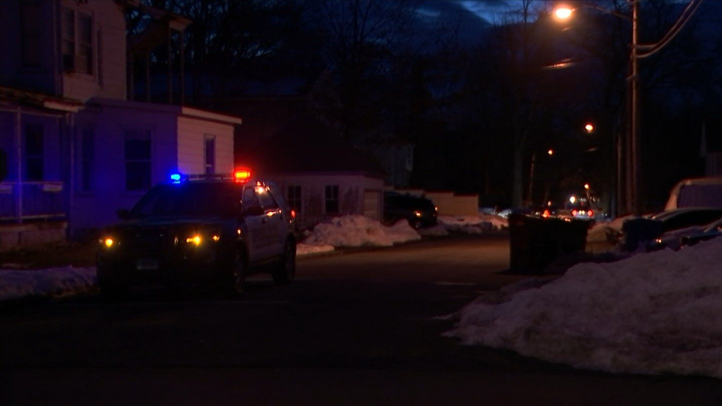 A police investigation is underway on Grove Street in Manchester. (WFSB photo)