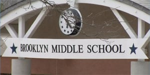 A bullet was found at Brooklyn Middle School. (WFSB)