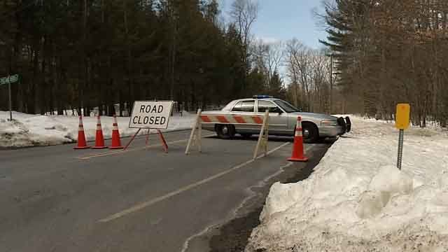 A baby's body was found in a bag at a Harwinton reservoir on Tuesday (WFSB photo)