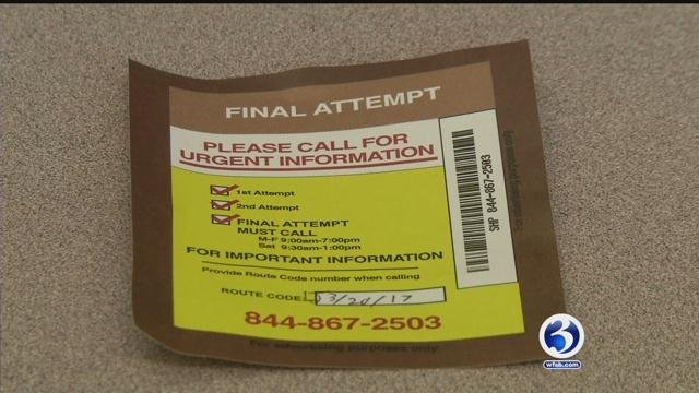 'Missed delivery' notices are being used as a marketing ploy (WFSB)
