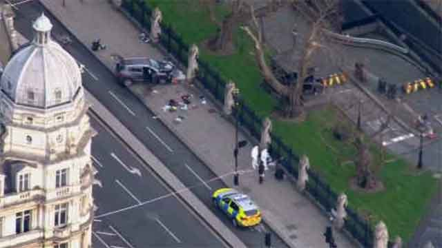 At least four people died following an attack in London, including the attacker (WFSB)