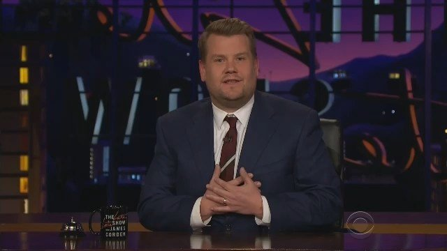 Late, Late Show host James Corden delivers a heartfelt message Wednesday night following the London attack. (CBS photo)