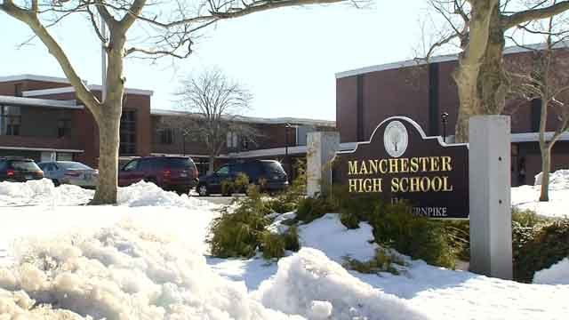 Ten students have been suspended following a fight at Manchester High on Thursday. (WFSB)