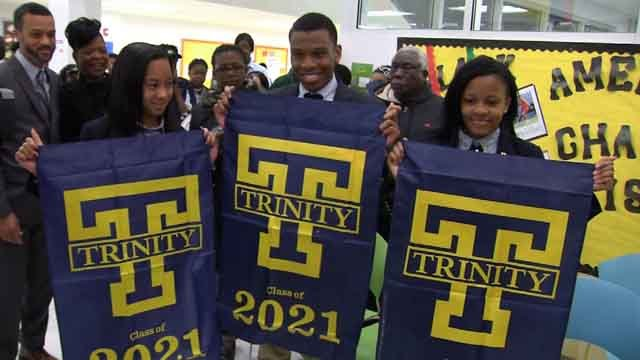 Kiera Flynn, Tiana Sparks, and Giovanni Jones had their dreams come true on Thursday (WFSB)