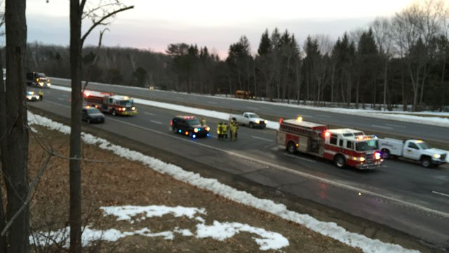 I-84 west in Tolland began clearing around 6:30 a.m. on Friday following a tractor trailer fire. (WFSB photo)