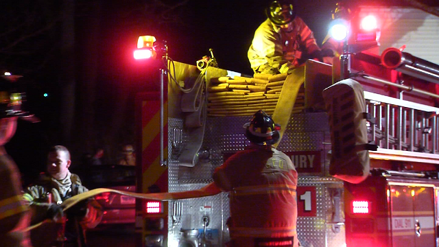 Crews in Glastonbury responded to a house fire on Saturday evening. (WFSB)
