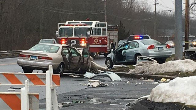 A crash has closed Route 372 in Cromwell on Tuesday afternoon. (WFSB)