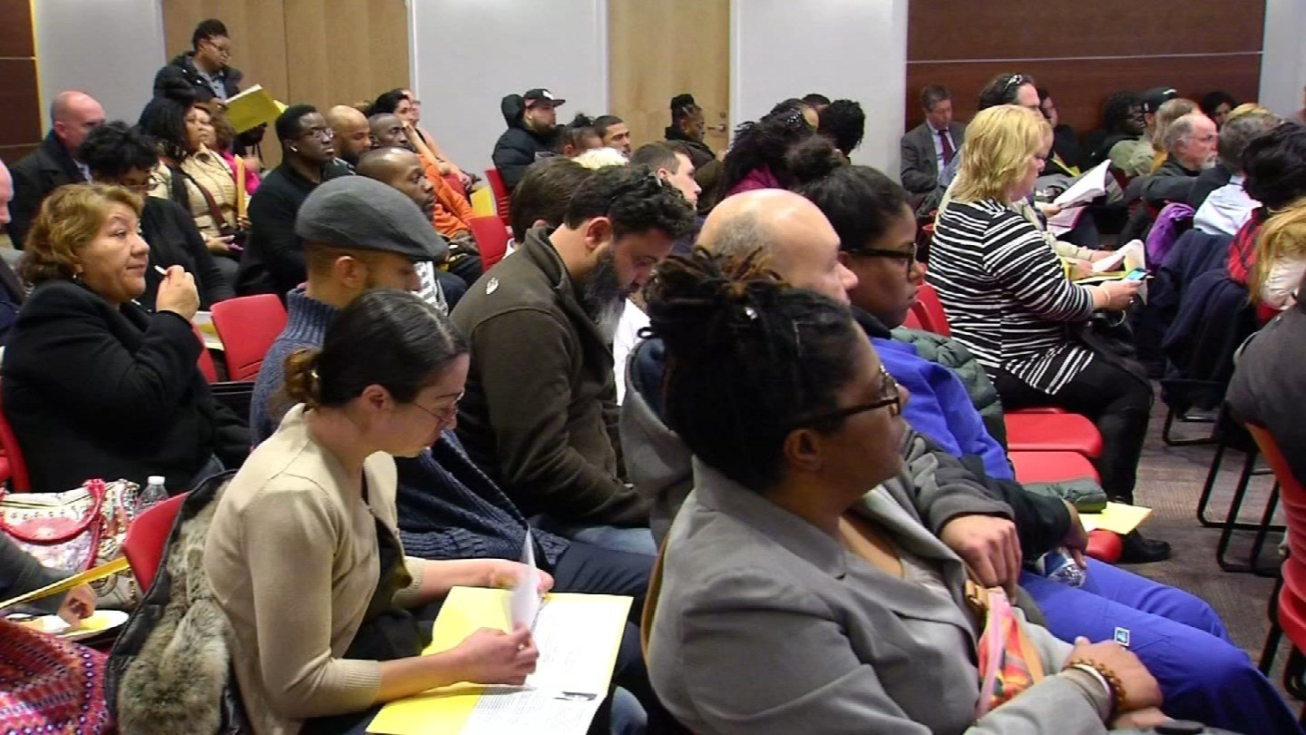 Parents gathered for a superintendent meeting earlier this month in Hartford. (WFSB photo)