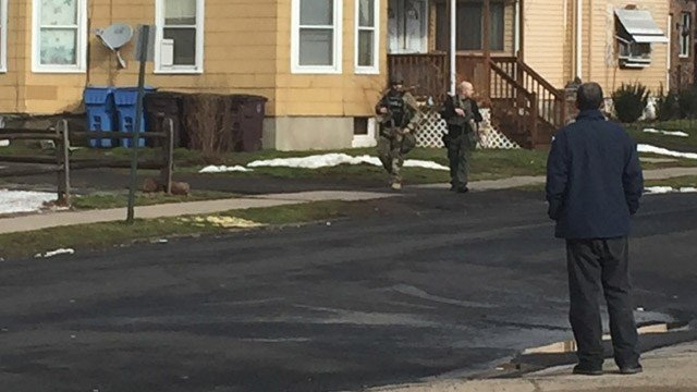 A second scene was reported on Olive Street in New Britain. (WFSB photo)