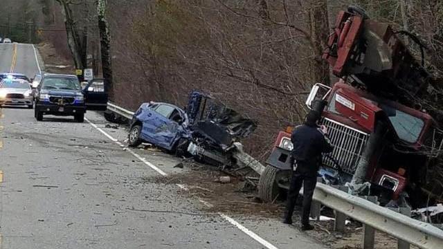 A deadly crash closed Route 44 in Ashford. (WFSB photo)