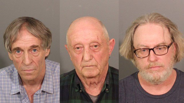 Bruce Bemer, William Trefzger and Robert King face charges in connection with a sex trafficking ring that operated out of Danbury. (Danbury police photos)