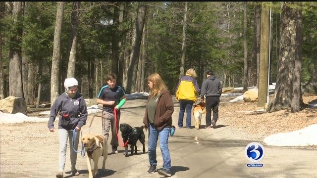 Four service dogs were paired up with new owners on Thursday (WFSB)
