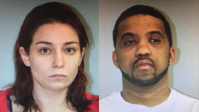 Megan Thompson and Jason Andrews were arrested for selling cocaine. They were found hiding in a hotel in Plainfield, troopers said. (State police photos)