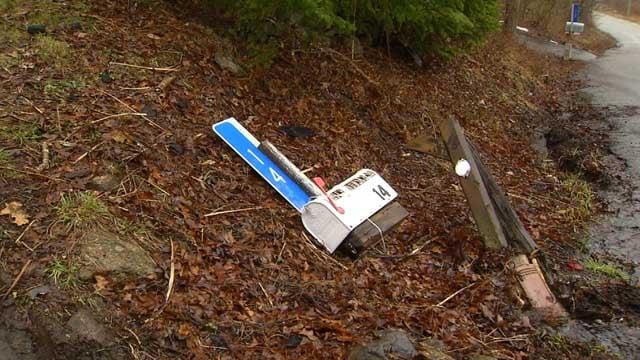 A woman's mailbox was smashed in Marlborough (WFSB)