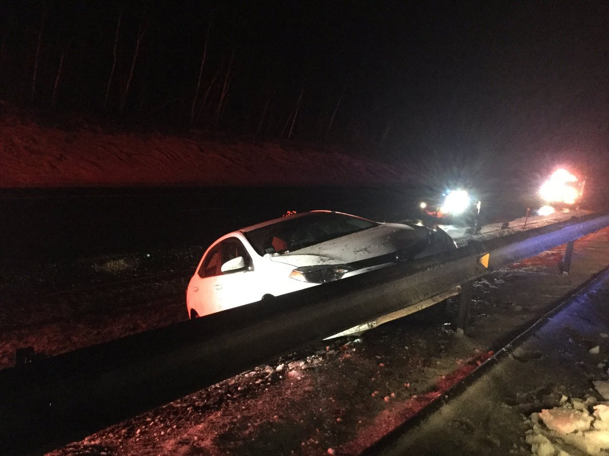 Single vehicle crash on I-84 eastbound in Tolland (Tolland Alert via Twitter).