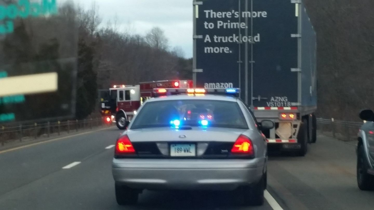 State police responded to a crash on Route 9 Sunday morning. (Facebook)