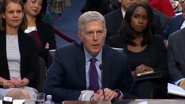 Supreme Court nominee Judge Neil Gorsuch. (CBS photo)