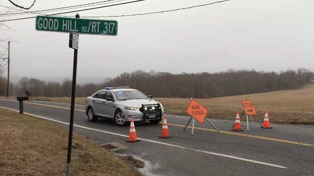 Police responded to a serious crash in Woodbury on Tuesday (WFSB)