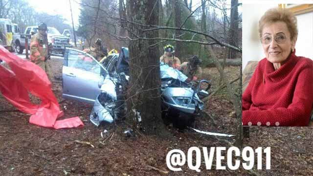 91-year-old Henny Simon was killed in the crash. (QVEC Twitter/Norwich Bulletin)