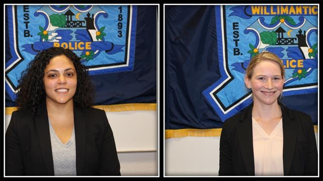 Willimantic Police Department is welcoming two new officers. (Willimantic police)