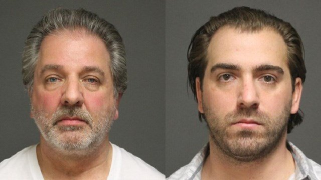 Anthony C. Innarella Sr. and Anthony Angelo Innarella. (Fairfield police photo)