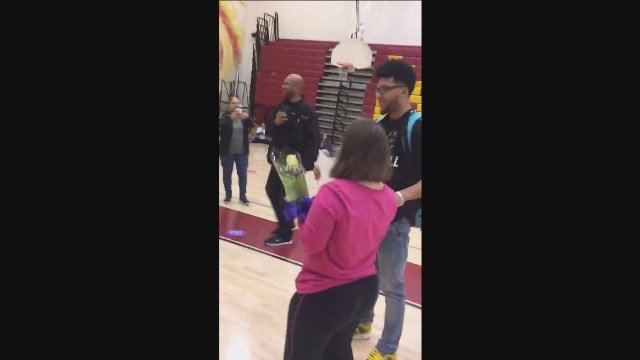 Donovan Dorce makes prom proposal to Melissa Figiel and the video goes viral.