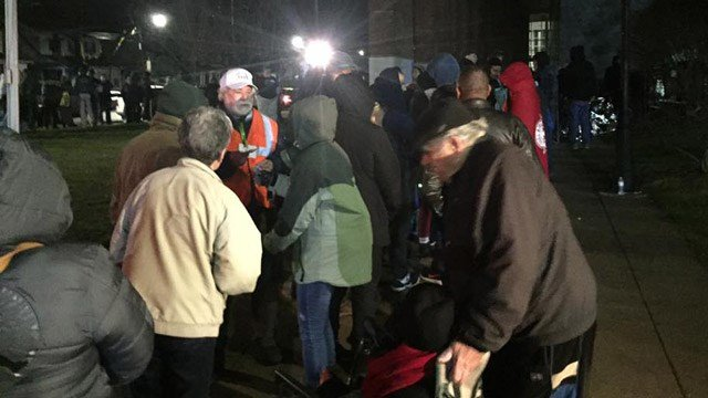 Lines formed overnight for the 2017 Connecticut Mission of Mercy in New Haven. (WFSB photo)