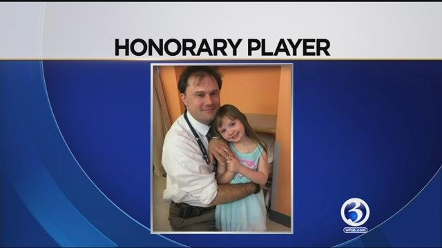 Katalina Litchfield was named an honorary player on the Conn. College volleyball team. (WFSB)