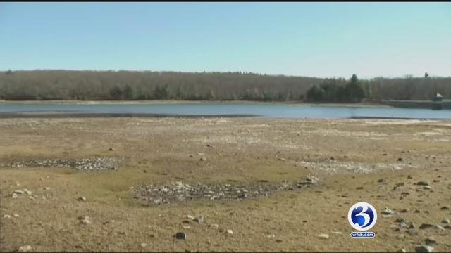 Reservoir levels were as low as 40 percent in Bristol. (WFSB)